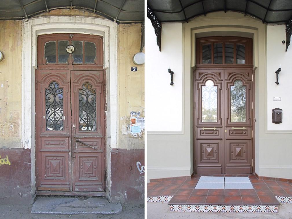 Реставрация старинных деревянных дверей